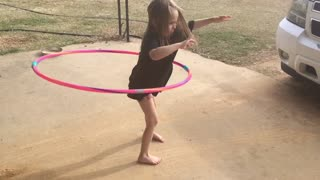 little girl hola hoops - Video