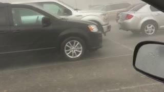 Caught in a Car During a Massive Storm - Video