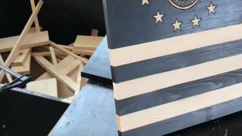 Special Forces Wooden Flag