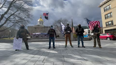 Members of Boogaloo New Hampshire Protest In Concord
