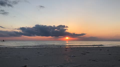 Gorgeous Sunset At The Beach