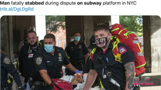 Man stabbed to death on NYC subway platform in middle of day