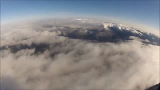 Breathtaking paraglide from Carpathian Mountain peak - Video
