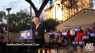 Joe Biden got called out at his rally in San Antonio for lying about Trump