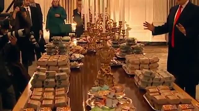 Michael Berry - President Trump Serves Fast Food To Clemson Players