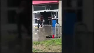 Looters hit the Family Dollar store in Wilmington, NC