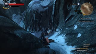 Geralt snowboarding in Skellige - Video