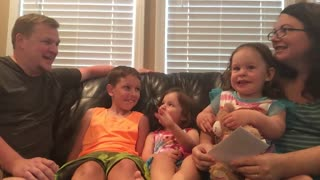 Big sisters devastated by family's gender reveal news - Video