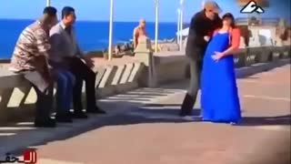Prank and scare people on street