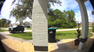 Delivery Driver Throws Package