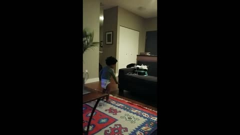 Toddler blames his 6 month old sister