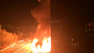 Historic blaze in downtown Los Angeles - Video
