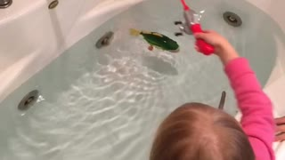 Kids Fishing Indoors - Video