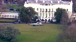 Trump leaves the White House for the final time