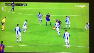 Messi's ball control is glorious