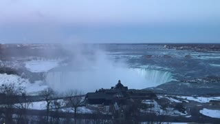 Sunset AT Niagara Falls  - Video
