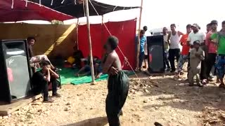 boy dancing in village amazing  - Video