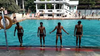 enjoying swimming pull bath with friends  - Video