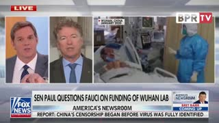 Senator Paul Questions Fauci On Funding Of Wuhan Lab