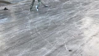 Icy Streets Create Perfect Ice Skating Rink