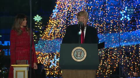 President Trump and the First Lady Take Part in Lighting the National Christmas Tree