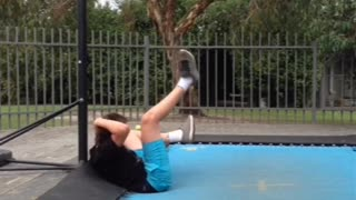 Basketball Trampoline Dunk Fail