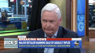 Dick's Sporting Goods Bans Sale of Assault Rifles - Video