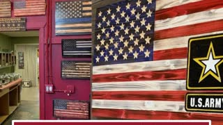 Wooden American Flags and Patriotic Home Decor, Handmade For Your Home or Office