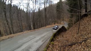 Amazing drifting skills on curvy mountain roads - Video