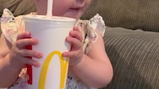 Baby Shocked by Slurpee