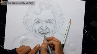 """Betty White Draw - """"betty white"""" drawing - How to draw..."""