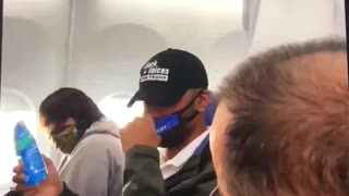 Trump Supporter removed from plane.