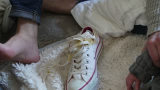 Baby Pukes on Mom's New Shoes - Video