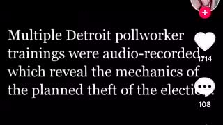 Detroit Leaks Election Fraud