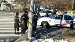 Toronto Police Arrest Crazy Woman Smashing Police Cars!!!!!! ( ORIGINAL Part 2)  - Video