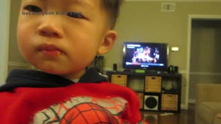 Toddler Tricks Mom Because He Doesn't Want To Share - Video