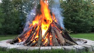 Fire time lapse