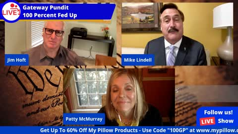 Mike Lindell Jim Hoft and Patty McMurray for Interview on His New Social Media Platform and Others