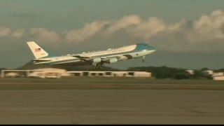 President Trump On Air Force One Heading To North Carolina Peaceful Protest Rally