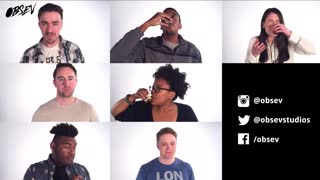 People Take Shots of Apple Cider Vinegar in Slow Motion - Video