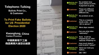 Chinese Whistleblower: CHINA PRINTED FAKE BALLOTS TO STEAL THE ELECTION