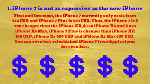 8 reasons to buy iPhone 7 instead of iPhone Xs, Xs Max and XR