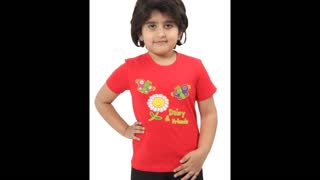 Funny Graphic Printed T Shirts Red Colour for Kids - Video
