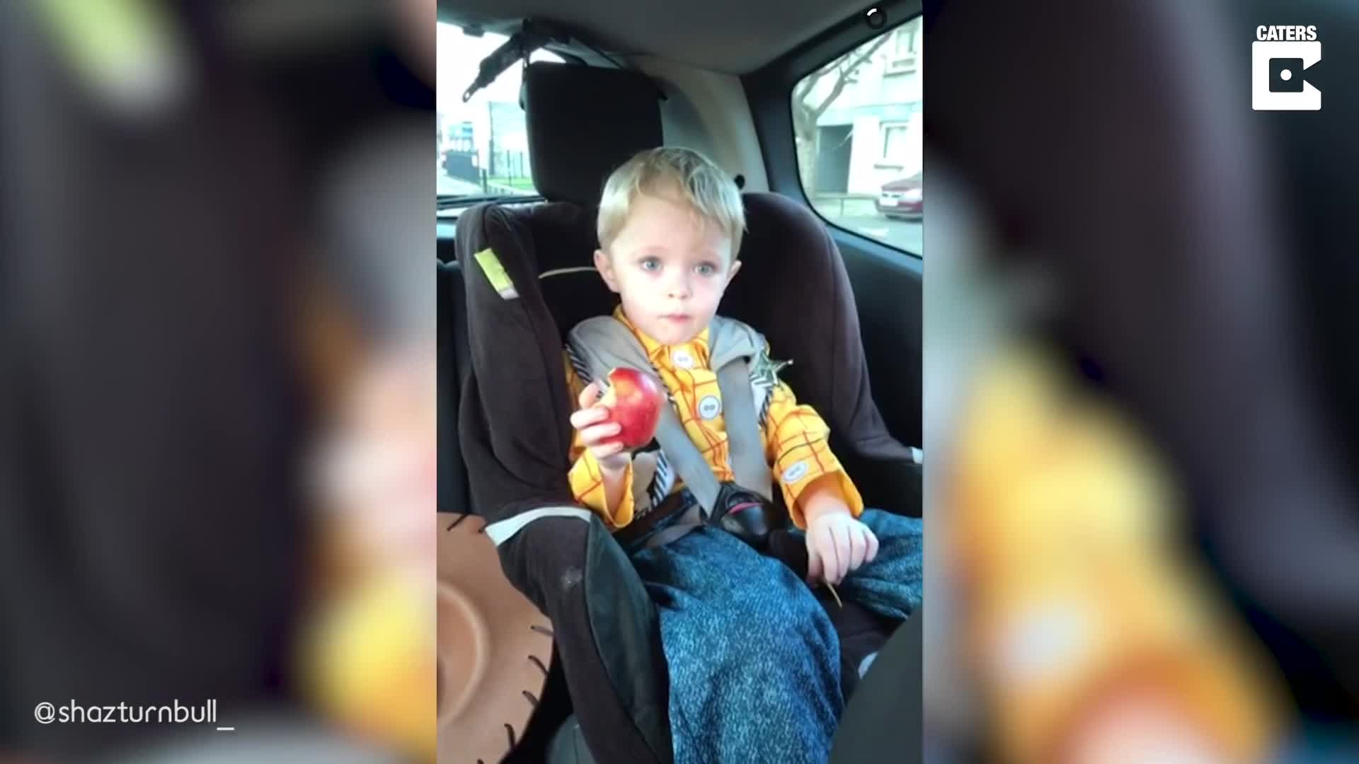 COMICAL THREE-YEAR-OLD DOESN'T CRACK UNDER PRESSURE AFTER BEING QUESTIONED BY HIS GRANDMOTHER ABOUT STOLEN BIKE