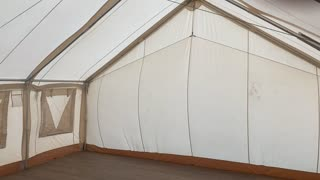 Inside the Tent During Windstorm