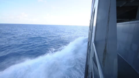 Even the moderately high waves will cause massive stress if you go too fast