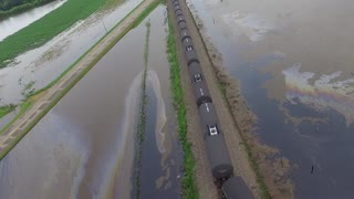 Flooding Causes Train Derailment