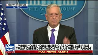Mattis Press Briefing - Parade Clapback - Video