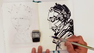Drawing without picking up my pen time lapse art by Artist Daniel Quinones