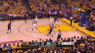 Lebron James Throws Elbows At Stephen Curry & Andre Iguodala - Video
